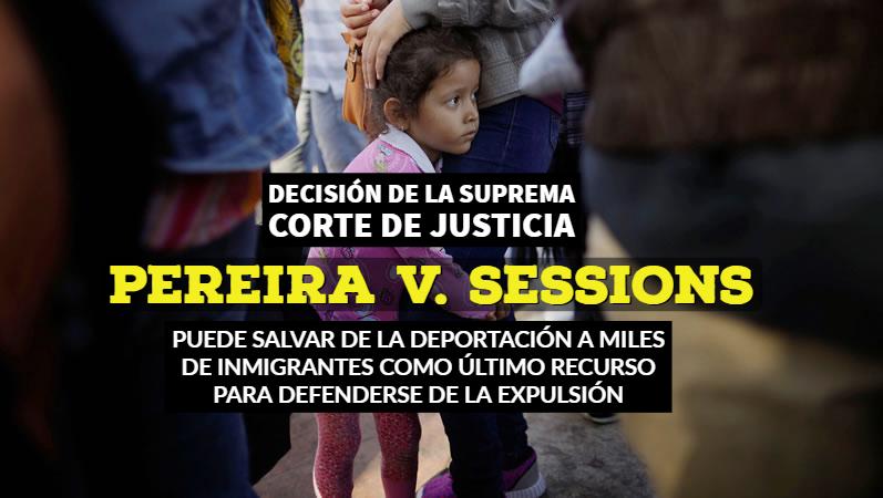 Suprema Corte de Justicia PEREIRA V. SESSIONS